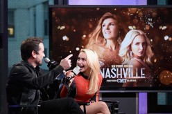 Charles Esten and Hayden Panettiere attend Build Presents Charles Esten & Hayden Panettiere Discussing 'Nashville' at AOL HQ on January 5, 2017 in New York City.