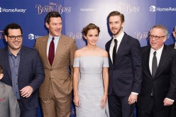 Josh Gad, Luke Evans, Emma Watson, Dan Stevens and Bill Condon attend the UK Launch Event of 'Beauty And The Beast' at Odeon Leicester Square on February 23, 2017 in London, England.
