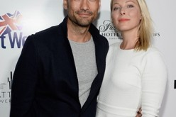 David Lee McInnis and Anastasia Griffith arrive at the 9th Annual BritWeek launch party at the British Consul General's Residence on April 21, 2015 in Los Angeles, California.