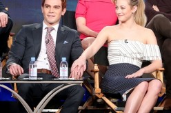 K. J. Apa and Lili Reinhart of the 'Riverdale' television show speak during the CW portion of the 2017 Winter Television Critics Association Press Tour at the Langham Hotel on January 8, 2017 in Pasadena, California.