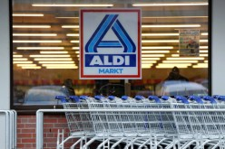 Picture shows the logo of German discount supermarket giant Aldi.