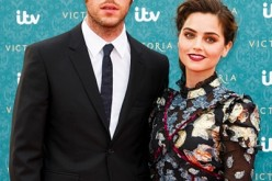 Tom Hughes and Jenna Coleman arrive for the premiere screening of ITV's Victoria at The Orangery on August 11, 2016 in London, England.