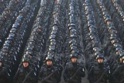 China's People's Armed Police strike fear in Xinjiang.