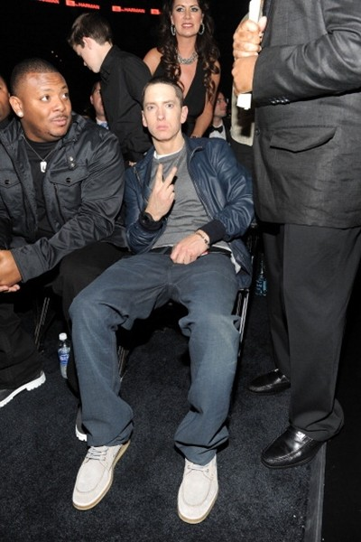 Rapper Eminem attends The 53rd Annual GRAMMY Awards held at Staples Center on February 13, 2011 in Los Angeles, California.