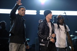 Rappers Drake, Eminem, and Lil Wayne perform onstage during the 52nd Annual GRAMMY Awards held at Staples Center on January 31, 2010 in Los Angeles, California.