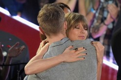 Recording artist Taylor Swift (R) hugs Calvin Harris at the iHeartRadio Music Awards which broadcasted live on TBS, TNT, AND TRUTV from The Forum on April 3, 2016 in Inglewood, California.