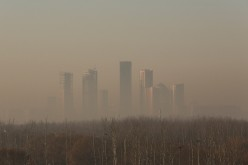 Beijing is enveloped with smog.