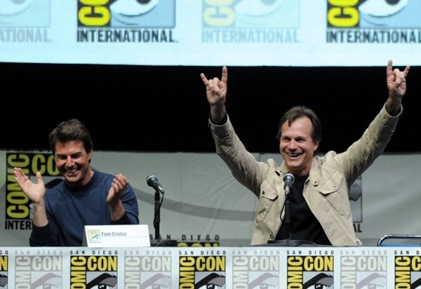 Tom Cruise and Bill Paxton speak onstage at the Warner Bros. and Legendary Pictures preview of 'Edge of Tomorrow' during Comic-Con International 2013 at San Diego Convention Center.