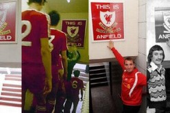 Images from Liverpool's home stadium at Anfield.
