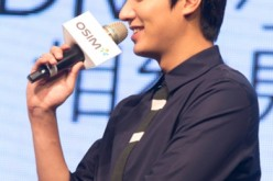 'The Heirs' actor Lee Min-Ho attends a press conference for a commercial event on September 11, 2014 in Taipei, Taiwan.