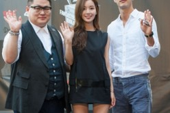 Jung Yun Ki, Nam Gyuri and Kim Ji Seok attend KCON 2014 - Day 1 at the Los Angeles Memorial Sports Arena on August 9, 2014 in Los Angeles, California.
