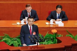 Chinese Premier Li Keqiang at the National People's Congress