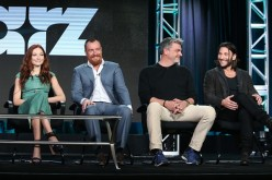 Clara Paget, Toby Stephens, Ray Stevenson and Zach McGowan speak onstage during the 'Black Sails' panel as part of the Starz portion of This is Cable 2016 Television Critics Association Winter Tour.