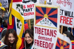 Supporters worldwide march to commemorate the Tibetan rebellion.