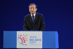 Ma Kai, vice premier of China's State Council, speaks during the opening ceremony of the Guiyang International Big Data Expo.