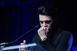 Illusionist Criss Angel becomes emotional while talking about his son Johnny Crisstopher Sarantakos at the third annual Tyler Robinson Foundation gala benefiting families affected by pediatric cancer.