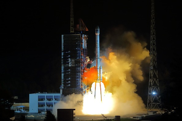 A Long March-3C carrier rocket carrying the 23rd satellite with the Beidou Navigation Satellite System lifts off at the Xichang Satellite Launch Center.