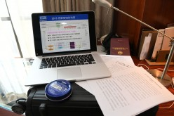Liu Rongyu from the Institute of Respiratory Disease Studies brought a laptop and reference materials.