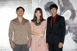 Song Il Gon, Han Hyo Joo and So Ji Sub attend a photocall for 'Always,' the opening film of the 16th Busan International Film Festival during the press conference at the Busan Cinema Center on October 6, 2011 in Busan, South Korea.