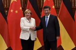 President Xi with German Chancellor Angela Merkel