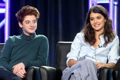 'The Mick' stars Thomas Barbusca and Sofia Black-D'Elia speak onstage during the FOX portion of the 2017 Winter Television Critics Association Press Tour at Langham Hotel in Pasadena, California.