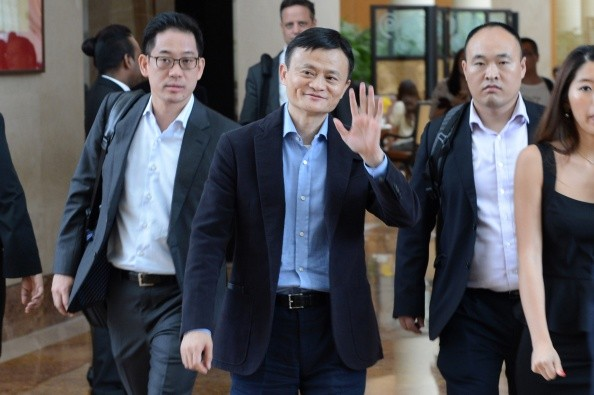 Alibaba's Jack Ma in Singapore