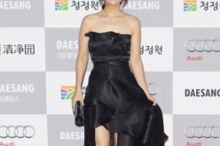 Park Bo-Young arrives for the 34st Blue Dragon Film Awards at Kyung Hee University on November 22, 2013 in Seoul, South Korea.