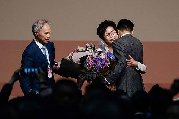Carrie Lam wins the Hong Kong elections.