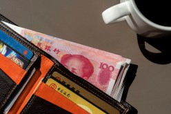 RMB banknotes in a wallet.