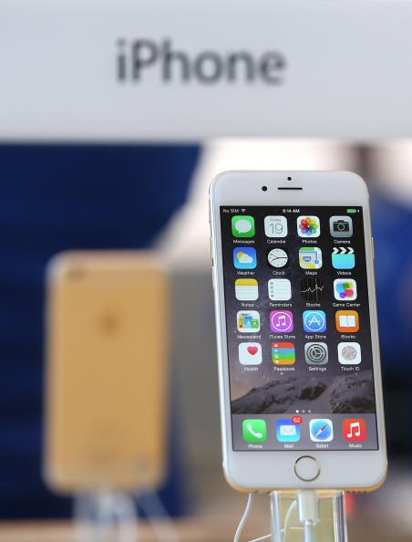 The iPhone 6 is displayed at an Apple Store on Sept. 19, 2014 in Palo Alto, California.