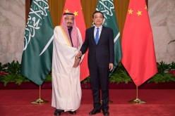 Saudi Arabia's King Salman and Chinese Premier Li Keqiang