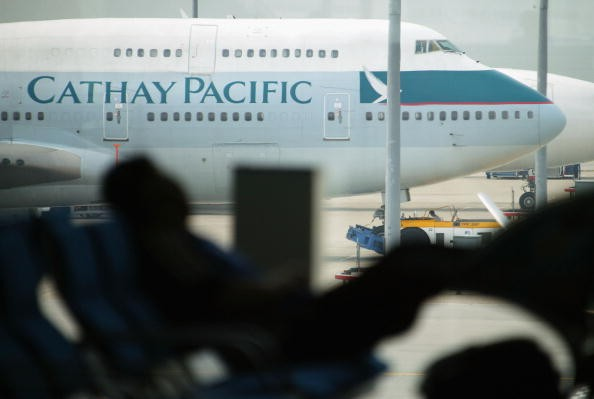 Cathay Pacific on the tarmac of Chek Lap Kok airport