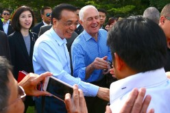 Chinese Premier Li Keqiang with Australian PM Turnbull