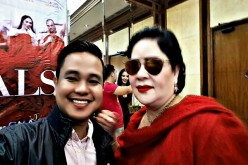 Filmmaker and screenwriter Conan Altatis poses with 2016 Cannes Film Festival Best Actress Jaclyn Jose during the 'D' Originals' press conference on April 5, 2017 at GMA Network Center, Quezon City, Metro Manila.