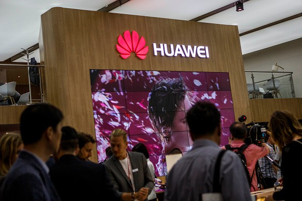 A Huawei stand at the IFA consumer electronics trade fair in Berlin, Germany.