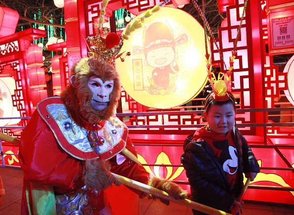 Monkey King Performs In Nanjing Confucius Temple