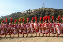 Moulin Rouge Dancers Visit Los Angeles
