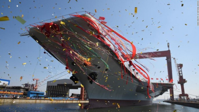 China launches first domestically made aircraft carrier.