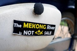 Thai protesters slam China's plan to blast the Mekong River.