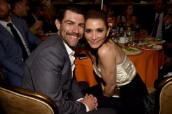 Actor Max Greenfield and Tess Sanchez attend the 24th Annual Race To Erase MS Gala at The Beverly Hilton Hotel on May 5.