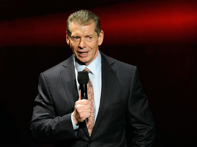 WWE Chairman and CEO Vince McMahon speaks at a news conference announcing the WWE Network.