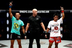 Anatpong Bunrad defeats Geje 'Gravity' Eustaquio via split decision at 'ONE Championship 26: Valor of Champions' on April 24, 2015 in the Philippines.