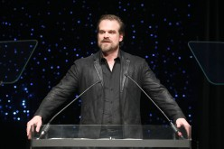 David Harbour speaks onstage during 69th Writers Guild Awards New York Ceremony at Edison Ballroom.