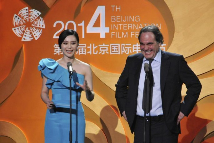 Oliver Stone at the 4th Beijing International Film Festival in 2014.