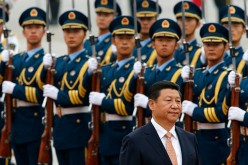 Chinse President Xi Jingping during a military parade.