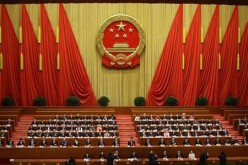 Delegates attend the fourth plenary meeting of the National People's Congress (NPC).