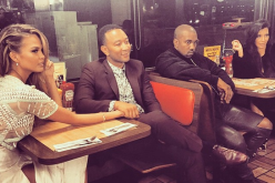 Chrissy Teigen, John Legend, Kanye West and Kim Kardashian went to a Waffle House after a Super Bowl party concert.
