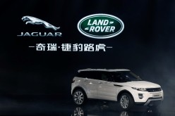 A Range Rover Evoque SUV on display during the Chery Jaguar Land Rover plant opening ceremony in Changshu, Jiangsu Province, Oct. 2014.