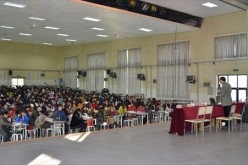 Sexologist Fang Gang gives a lecture on sex education to educators in Shandong.