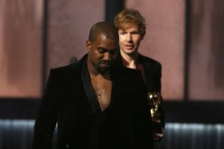 Kanye West (L) and Beck (R)